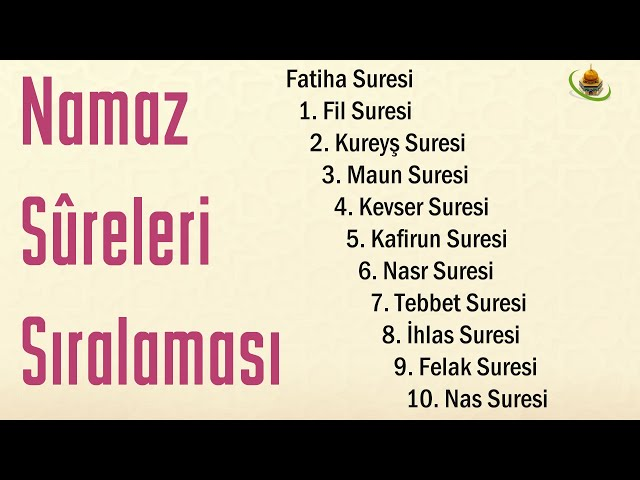 Namaz Sureleri ve Namaz Duaları'nın Türkçe ve Arapça yazılışı, okunuşu ve anlamı