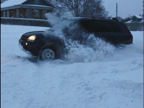 Hyundai tucson, туссан зимой по сугробам snow offroad