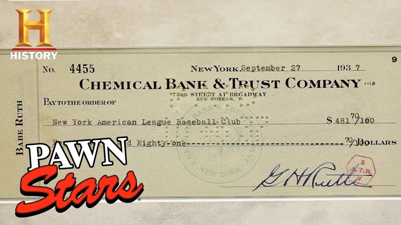 Pawn Stars Babe Ruth Signed Check History