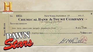 Pawn Stars: Babe Ruth Signed Check | History