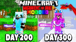 I Survived 300 Days in Modded Hardcore Minecraft.. Here's What Happened