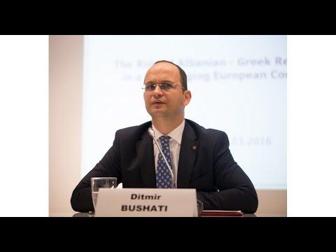 Remarks of the MFA of Albania Ditmir Bushati at ELIAMEP