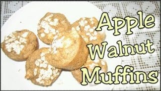 Apple Walnut Muffins: No Flour, Sugar Or Oil Added