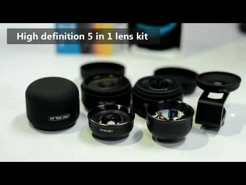 Apexel 5 In 1 Professional HD Phone Lens [New 2019]