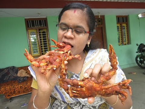 SEA CRAB Fry Cooking in My Village | Yummy Taste Fry | VILLAGE FOOD