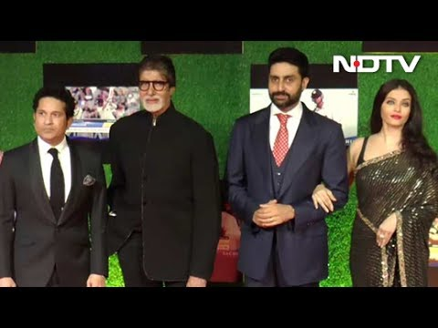 Bollywood Stars At Sachin Movie Premiere