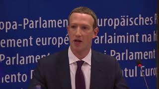Answers by Facebook's Zuckerberg at the  EP Conference of Presidents