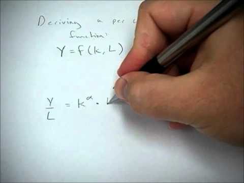 Deriving a per capita production function from a general production function