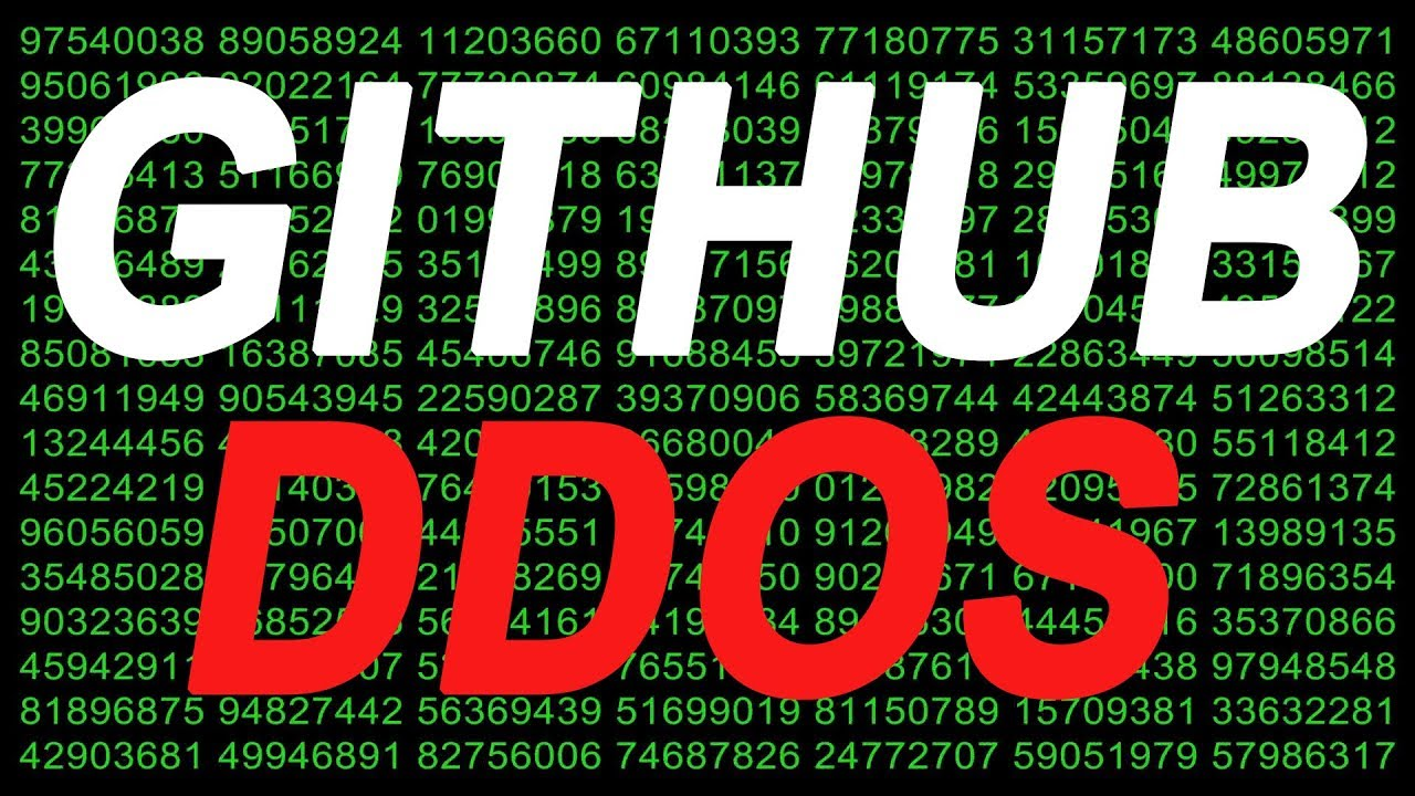Worlds Largest Cyber Attack Strikes Github - DDoS Attack on Github