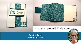 Accordion Fold Card with Come To Gather Designer Series Paper