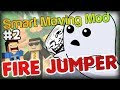 FUNNY: THE INVISIBLE TROLL - Minecraft Smart Moving Mod Fire Jumper Part 2 w/ Double and Simon