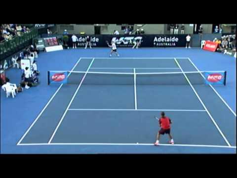 Alexandr Dolgopolov v Stanislas Wawrinka   World Tennis Challenge Adelaide 2012
