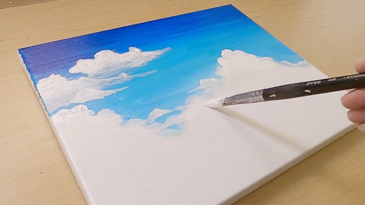Soft painting technique / How to draw a couple walking in the clouds / Easy Creative Art