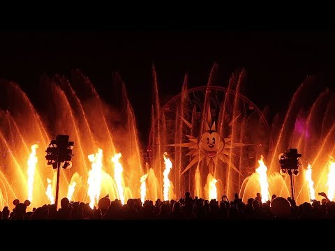 World of Color Full Show Disney California Adventure Disneyland Resort HD