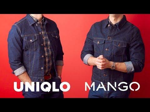 """Сравнение джинсовые курток из """"сырого"""" денима: MANGO Vs. UNIQLO"""