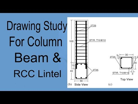How to Study Lintel , Column & Beam Drawing in Civil Engineering.