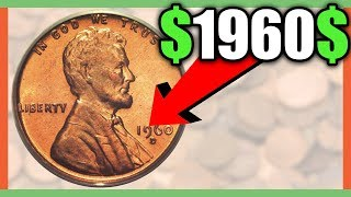 WHAT IS A 1960 PENNY WORTH? RARE PENNIES WORTH MONEY!! VALUABLE PENNIES TO LOOK FOR!