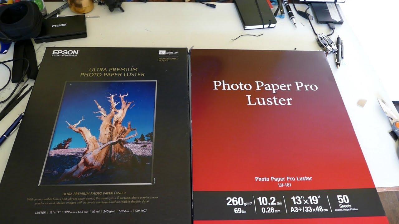 Epson Paper in Canon Printer - x-rite Color Munki profile
