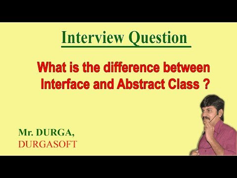 Difference between Interface and Absract Class