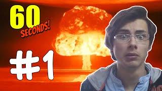 60 SANİYEDE ATOM BOMBASINDAN KURTULABİLECEK MİYİZ!? - 60 Seconds - Part1(Türkçe Oynanış)