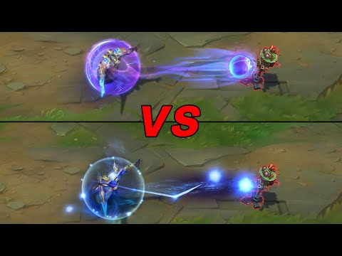Hextech Kassadin vs Cosmic Reaver Kassadin Skins Comparison (League of Legends)