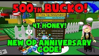 [NEW CODE!] 500th BUCKO QUEST COMPLETED! Bee Swarm Simulator