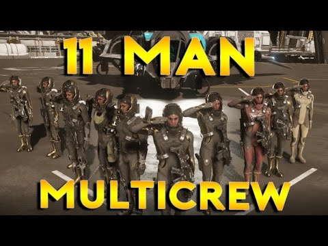 11 MAN MULTICREW CATERPILLAR | Star Citizen 2.6 Live Gameplay | (1/4/17)