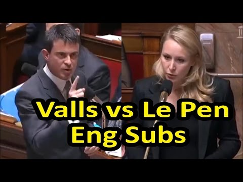 Fiery exchange between Marion Maréchal Le Pen and French PM Manuel Valls (English subtitles)