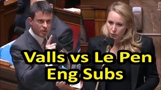 Video Fiery exchange between Marion Maréchal Le Pen and French PM Manuel Valls (English subtitles) download MP3, 3GP, MP4, WEBM, AVI, FLV September 2017