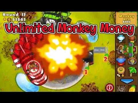 BTD 5/M -How To Get Unlimited MONKEY MONEY Without Upgrades (10,000 An Hour)(Working)(2016)