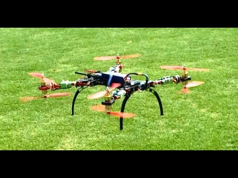 Alien 560 Quadcopter / Octocopter X8 Octo configuration. Build and first flight.