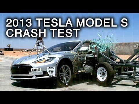 тесла автомобиль краш тест