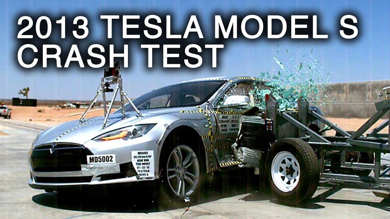 краш-тест тесла автомобиль