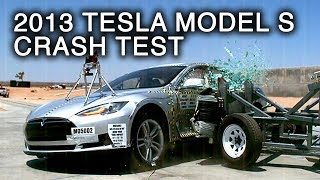 2013 Tesla Model S | Side Crash Test by NHTSA