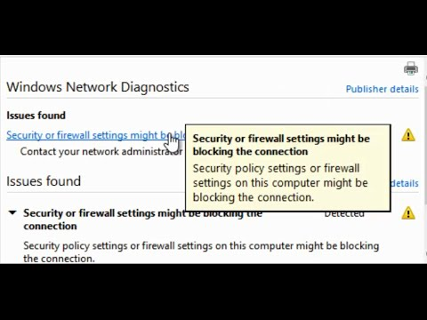 Security or firewall settings might be blocking the connection