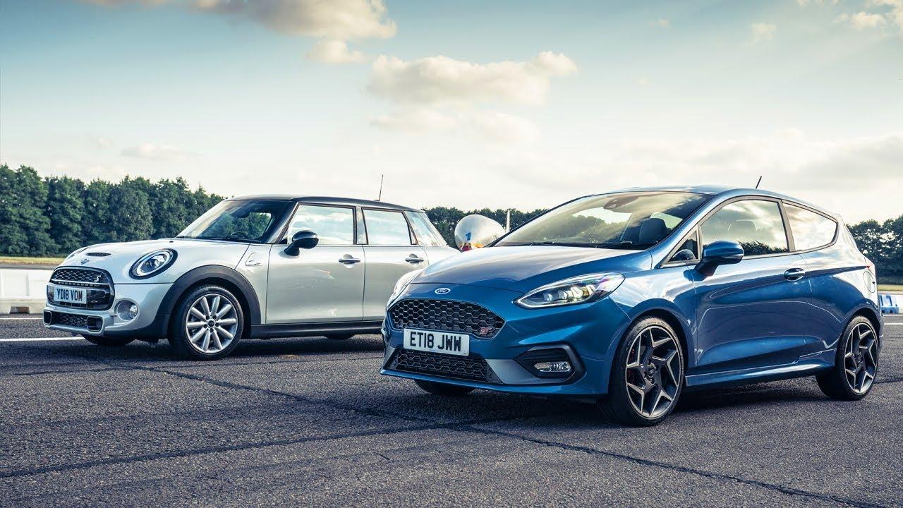 Ford Fiesta St Vs Mini Cooper S Drag Races Top Gear Youtube