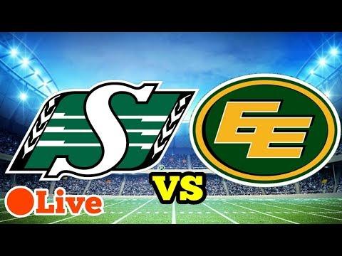 Saskatchewan Roughriders Vs Edmonton Eskimos CFL Live Week 20