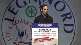 CONGRESSO DELLA #LEGA LOMBARDA - INTERVENTO DI DANIELE #BELOTTI SEGRETARIO PROV  DI #BERGAMO