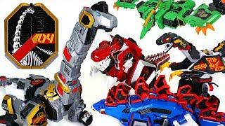 Geo Mecha dinosaur transformers Captaindino Brachiocanon, Tyrannotooth, Pterastorm - DuDuPopTOY