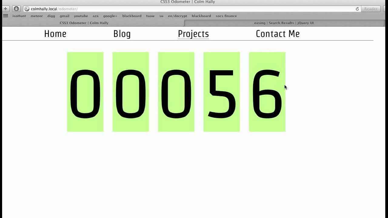 An Odometer / Counter Built using jQuery & HTML5
