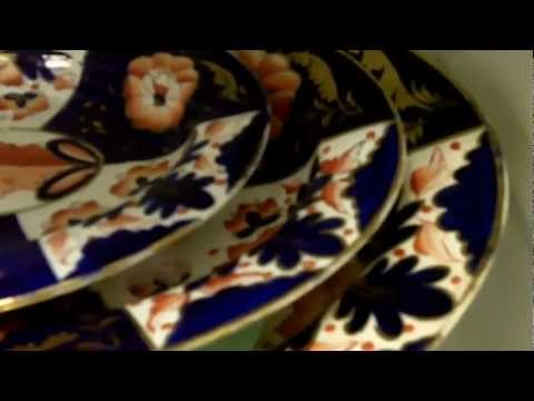 Antique China, Crown Derby plates from our antiques mall at Gannon's Antiques and Art.