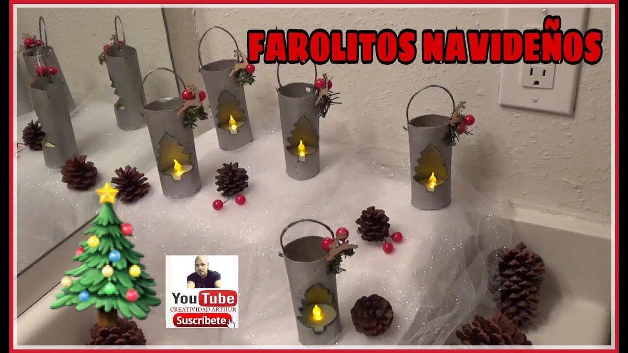 Adornos navide os con rollos de papel higienicos farolitos - Adornos de navidad con papel ...