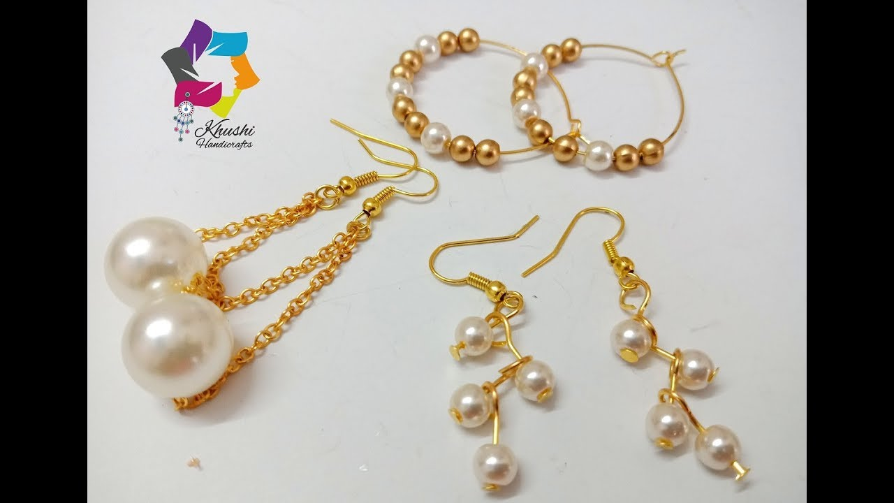 How To Make Pearl Earrings At Home For Office Collage Going Girls