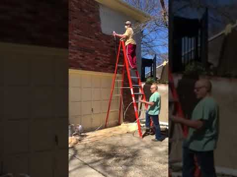 Painting a brick house gray