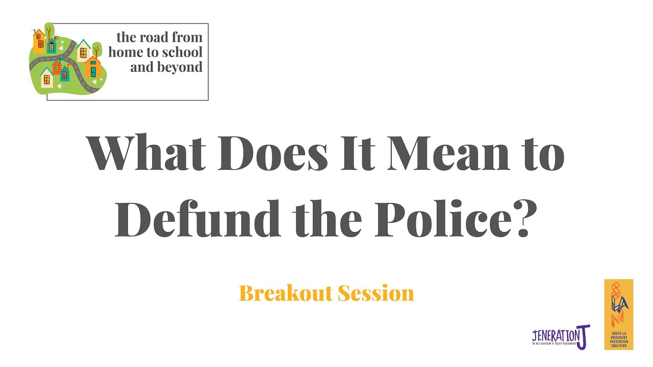 What Does It Mean to Defund the Police? Breakout Session