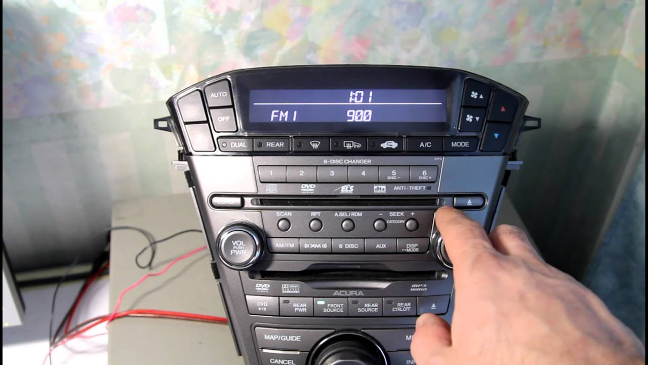 mdx 2007 radio tune step youtube