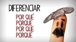Difference between por qué, porque, por que, porqué. Spanish grammar