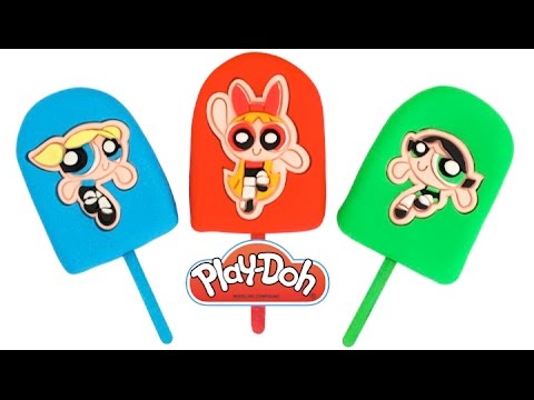 Play-Doh How to Make Powerpuff Girls Popsicles * DIY Creative Fun For Kids * RainbowLearning