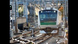 相鉄・JR直通線試運転埼京線E233系西谷駅引き上げ線から入線