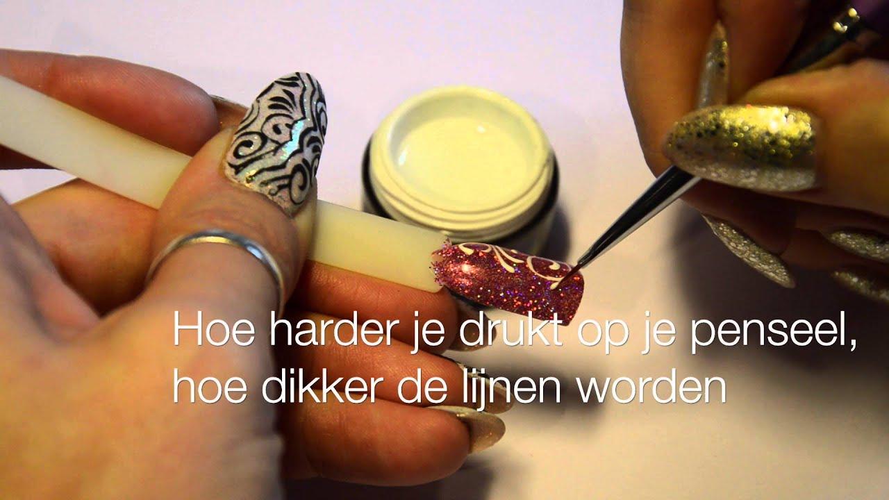 Designs Maken Met De Urban Nails Pro And Go No Wipe Gel Youtube